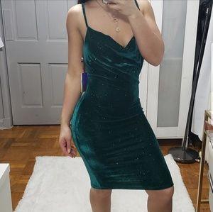 "Dresses & Skirts - ""Oz"" Emerald Sparkle Dress NWOT"